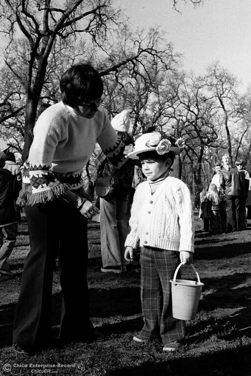 . Children search for eggs during Easter at Caper Acres in this file photo on March 31, 1975. (Chico Enterprise-Record file photo)