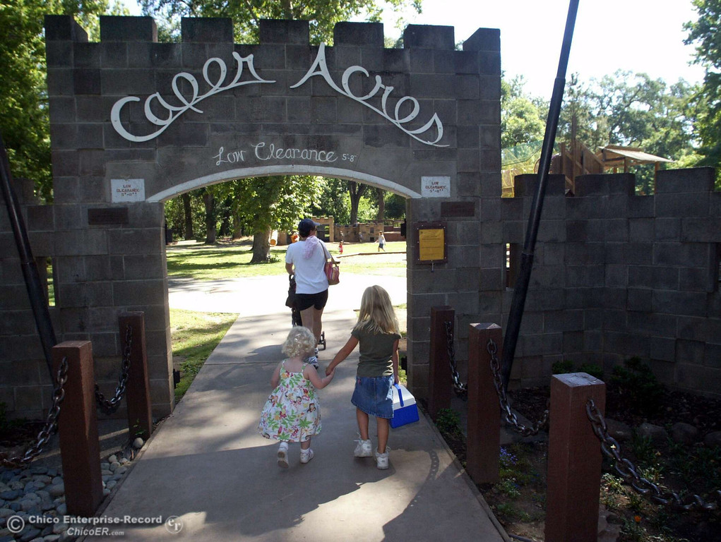 . Kids walk into the entrance of Caper Acres in lower Bidwell Park in this file photo from June 2006. (Ty Barbour/Chico Enterprise-Record file photo)