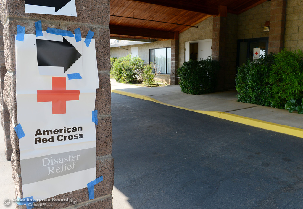 Description of . A Red Cross evacuation center was set up at Church of the Nazarene for mandatory evacuation areas around the Swedes Fire southeast of Oroville that were expanded just after noon Saturday, August 17, 2013 in Oroville, Calif.  (Jason Halley/Chico Enterprise-Record)