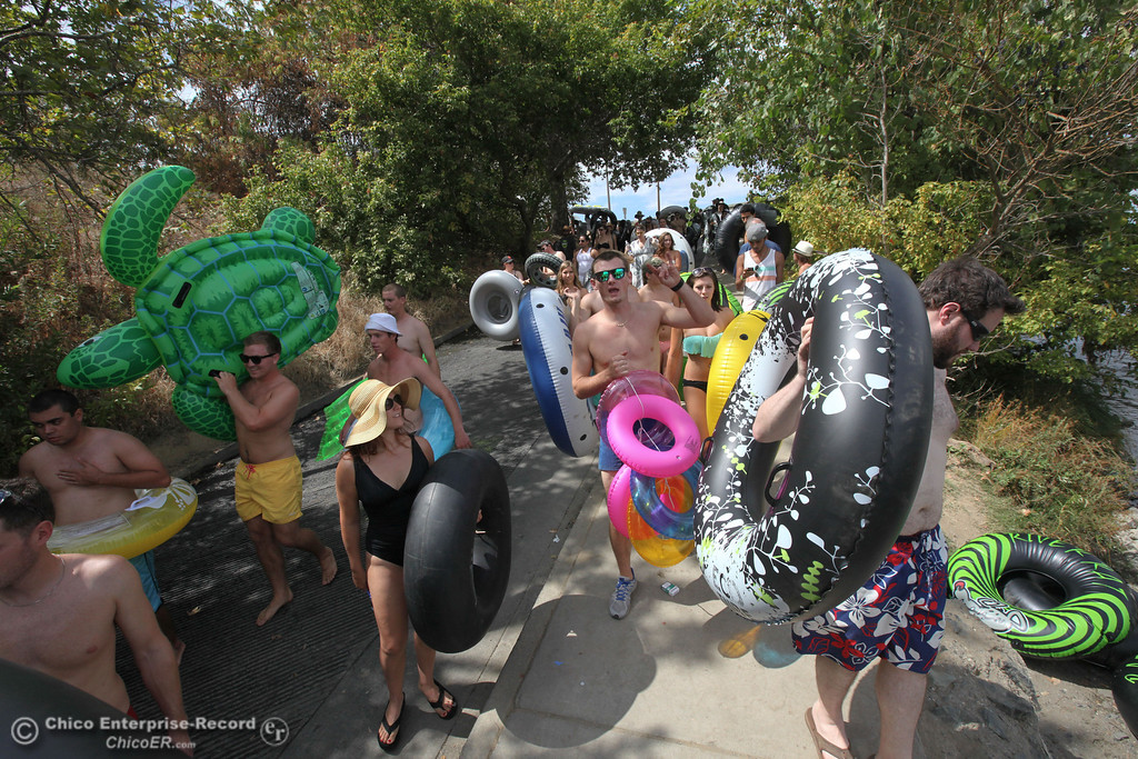 Description of . Floaters come from all over to Chico during Labor Day weekend to float the Sacramento River  on Sunday, September 1, 2013. (Frank Rebelo/Staff Photo)