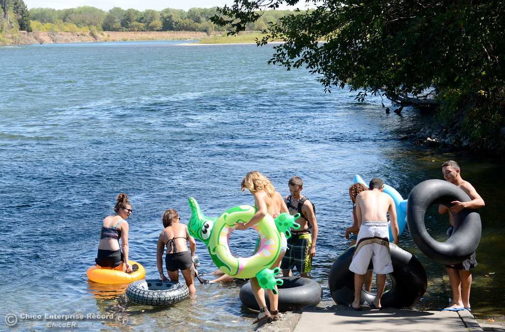 Description of . Just a handfull of people were seen floating the Sacramento River between the Irvine Finch boat Launch and Pine Creek near Scotty's Boat Landing in celebration of Labor Day Monday, Sept. 2, 2013. (Bill Husa/Staff Photo)