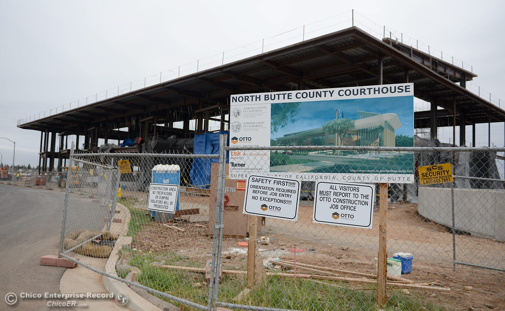 Description of . during construction of the new North Butte County Courthouse located off of Bruce Road at 1701 Concord Ave. in Chico, Calif. Wednesday Jan. 29, 2014.  (Bill Husa/Staff Photo)