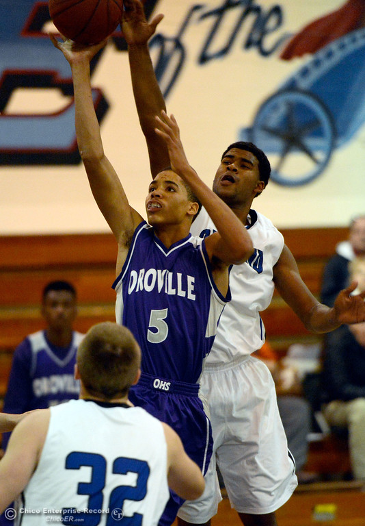 Description of . Orland came out on top with a 67-64 win in overtime during Orland vs Oroville boys varsity basketball in Durham, Calif. Thursday Dec. 5, 2013.(Bill Husa/Staff Photo)