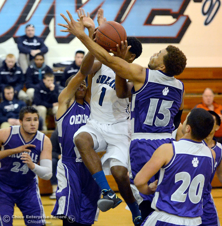 Description of . during Orland vs Oroville boys varsity basketball in Durham, Calif. Thursday Dec. 5, 2013.(Bill Husa/Staff Photo)