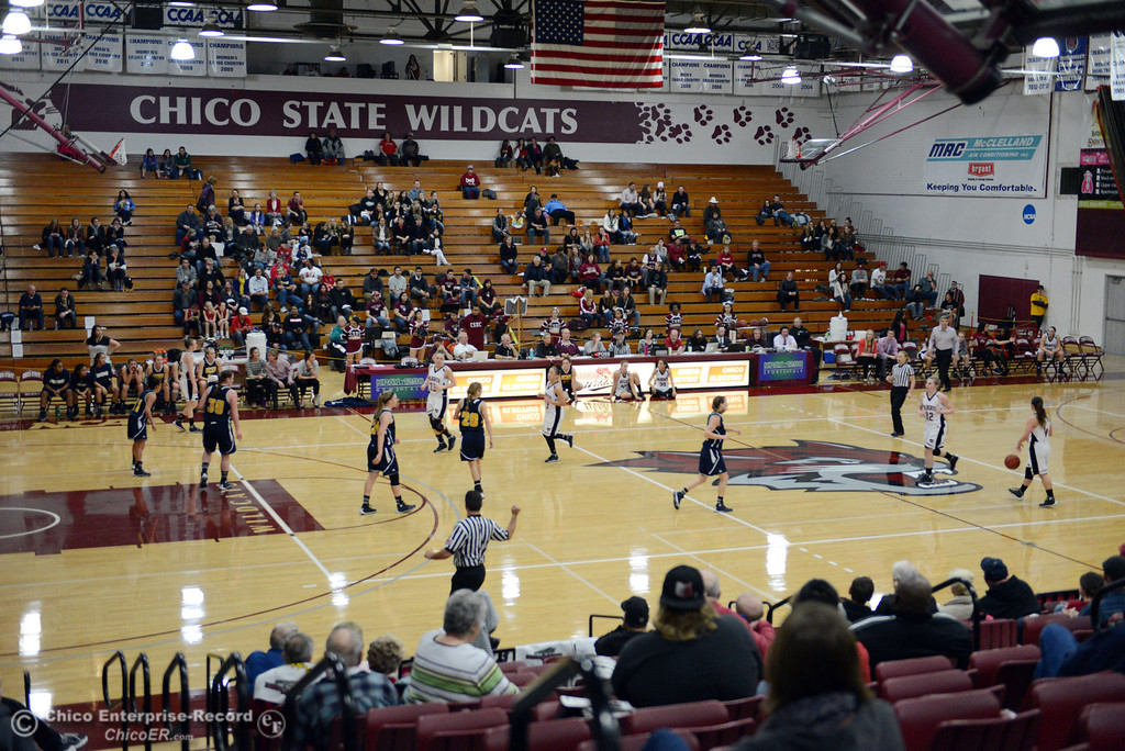 Description of . Chico State against UC San Diego in the first half of their women's basketball game at CSUC Acker Gym Friday, February 7, 2014 in Chico, Calif.  (Jason Halley/Chico Enterprise-Record)