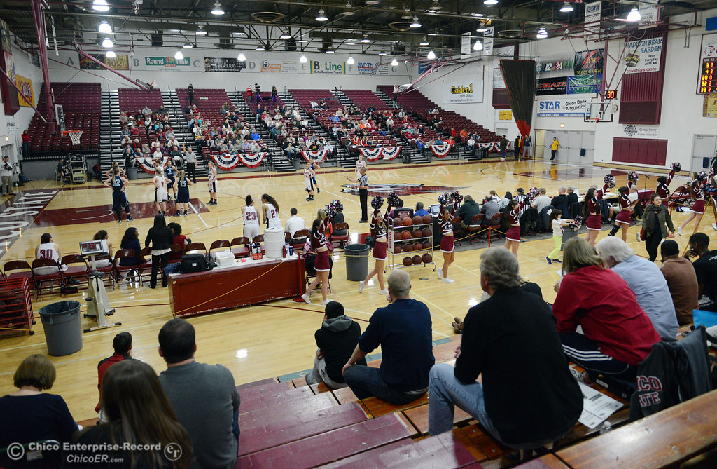 Description of . Chico State against Sonoma State in the second half of their women\'s basketball game at CSUC Acker Gym Friday January 31, 2014 in Chico, Calif. (Jason Halley/Chico Enterprise-Record)