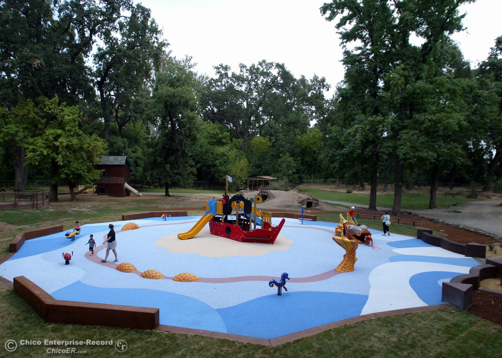 . Kids play at the Nico Cardoza Memorial Park which is now open in Caper Acres in this file photo from July 2007. (Jason Halley/Chico Enterprise-Record)