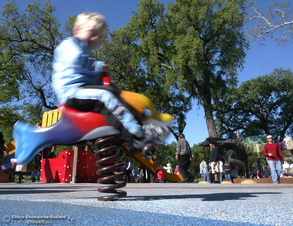 . Children play at Caper Acres in this file photo from April 2009. (Bill Husa/Chico Enterprise-Record)