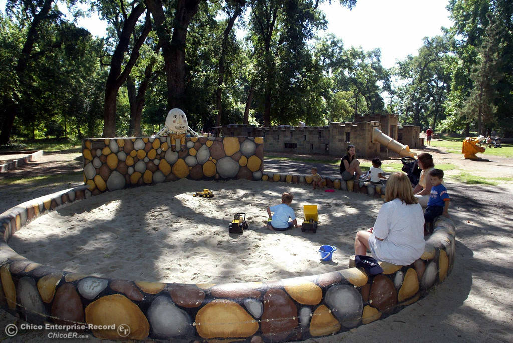 . Kids play in the sand box at Caper Acres in lower Bidwell Park in this file photo from June 2006. (Ty Barbour/Chico Enterprise-Record file photo)