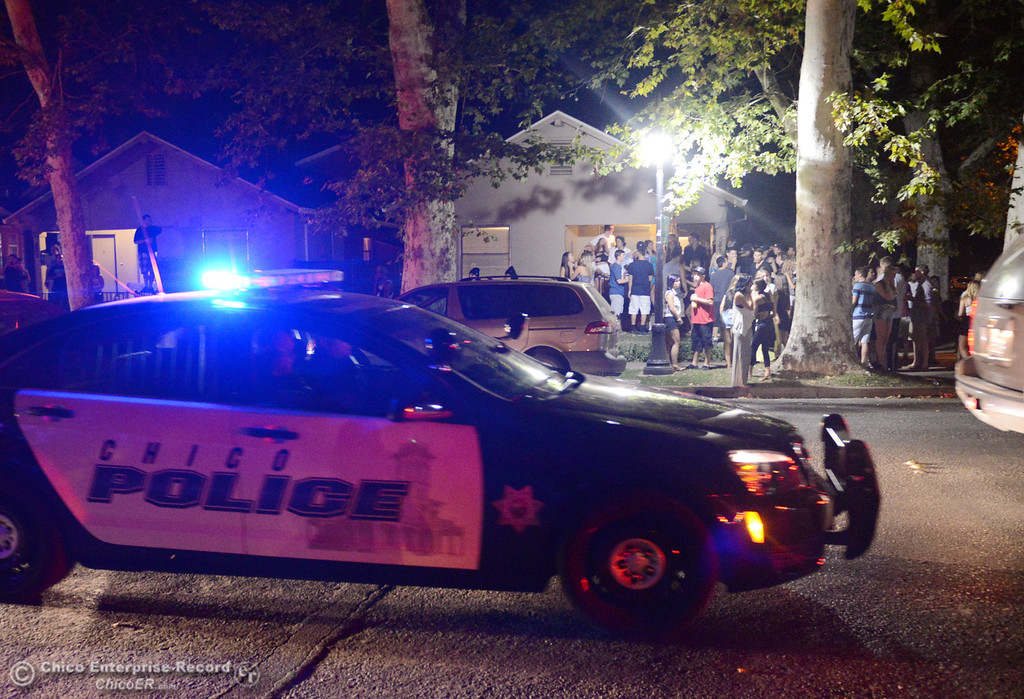 . Chico Police responded to large incidents in the south campus area Friday, August 23, 2013 in Chico, Calif. 