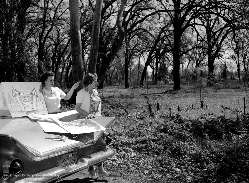 . The new Caper Acres location is surveyed in this file photo from Mar 20, 1961. (Chico Enterprise-Record file photo)