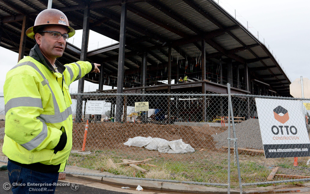 . Superintendant with Otto Construction Forrest Stuckey talks about the buildin during a tour of the construction of the new North Butte County Courthouse located off of Bruce Road at 1701 Concord Ave. in Chico, Calif. Wednesday Jan. 29, 2014.  (Bill Husa/Staff Photo)