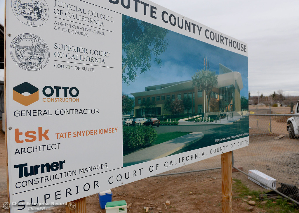 . during construction of the new North Butte County Courthouse located off of Bruce Road at 1701 Concord Ave. in Chico, Calif. Wednesday Jan. 29, 2014.  (Bill Husa/Staff Photo)