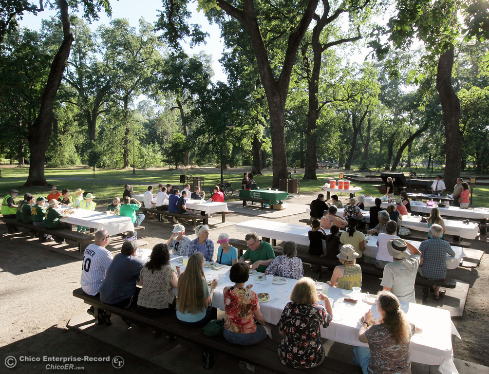 . The City of Chico Parks Division hosted a Bidwell Park and Greenways Volunteer Recognition award ceremony at One Mile Recreation picnic area on May 10, 2013 in Chico, Calif. (Jason Halley/Chico Enterprise-Record)