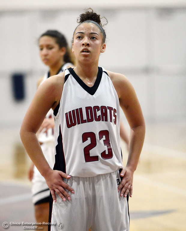 . Chico State\'s #23 Jazmine Miller takes a free throw against Sonoma State in the second half of their women\'s basketball game at CSUC Acker Gym Friday January 31, 2014 in Chico, Calif. (Jason Halley/Chico Enterprise-Record)