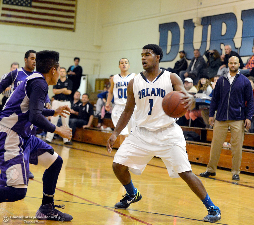 . Orland came out on top with a 67-64 win in overtime during Orland vs Oroville boys varsity basketball in Durham, Calif. Thursday Dec. 5, 2013.(Bill Husa/Staff Photo)