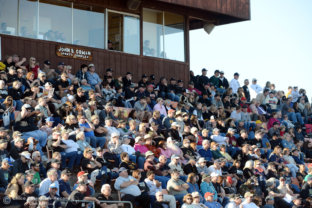 . Butte College fans watch against Fresno City College in the fourth quarter of their football game at Butte\'s Cowan Stadium Saturday, November 30, 2013 in Butte Valley, Calif.  (Jason Halley/Chico Enterprise-Record)