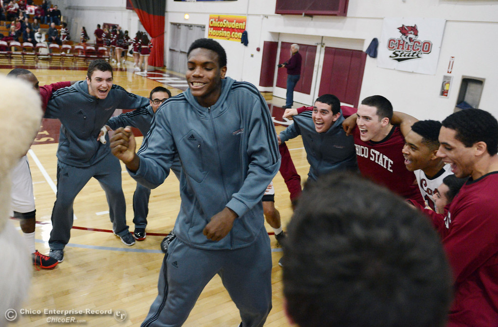 . Chico State gets ready against Sonoma State in the first half of their men\'s basketball game at CSUC Acker Gym Friday January 31, 2014 in Chico, Calif. (Jason Halley/Chico Enterprise-Record)