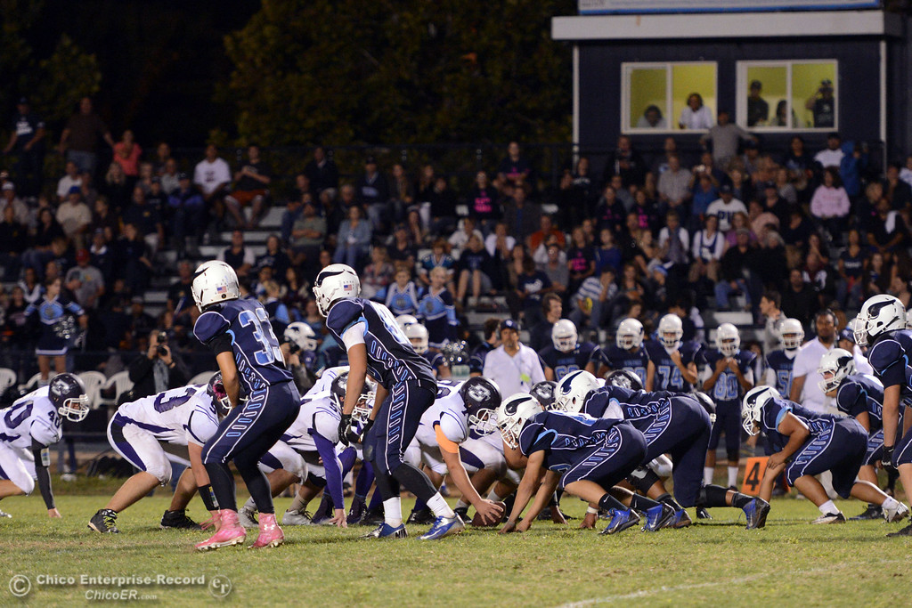 . Pleasant Valley High against Oroville High in the fourth quarter of their football game at PVHS Asgard Yard Friday, September 20, 2013, in Chico, Calif. (Jason Halley/Chico Enterprise-Record)